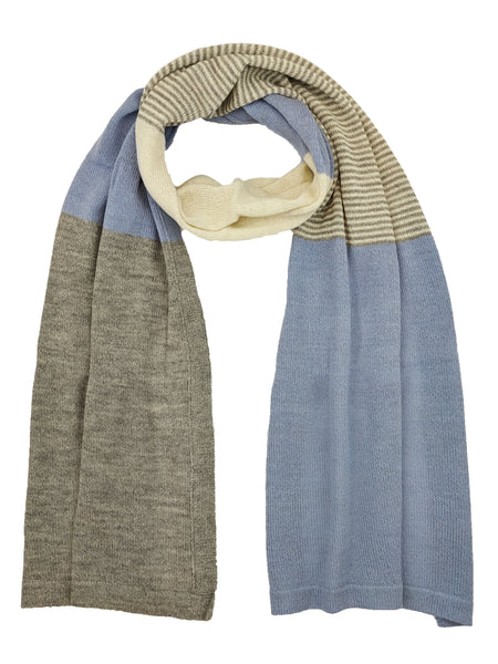"Casual Blocked Wrap ""Blue Grey"""