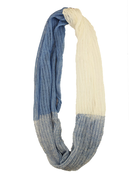 "Infinity Scarf ""Light Blue & White"""