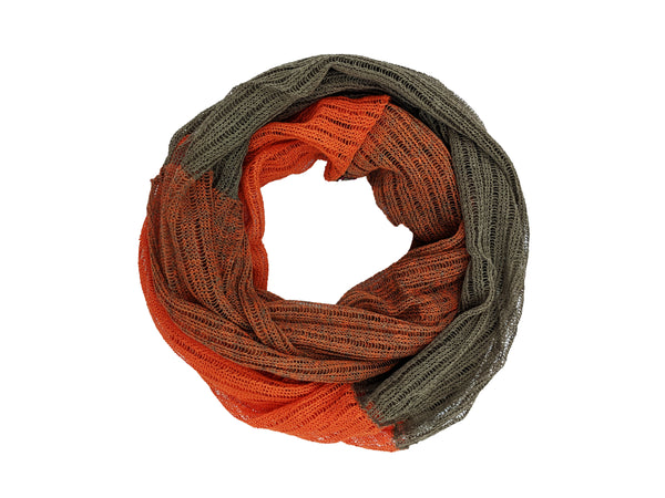 "Infinity Scarf ""Orange & Taupe"""