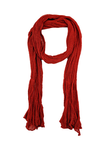 "Simple Scarf ""Bright Red"""
