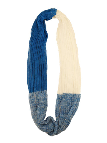 "Infinity Scarf ""Royal Blue & White"""