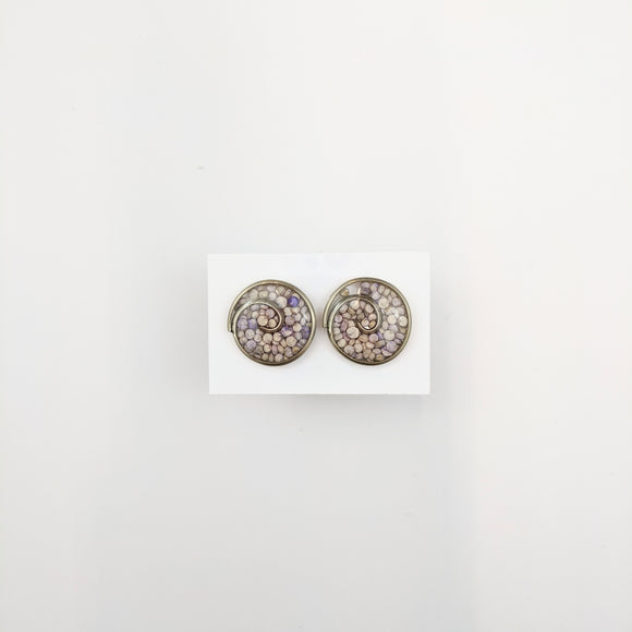 Round-shaped Stud Earrings 17mm