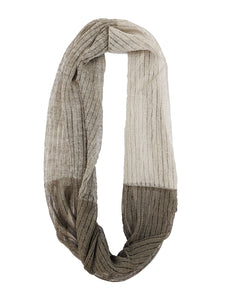 "Infinity Scarf ""Light Taupe & Taupe"""