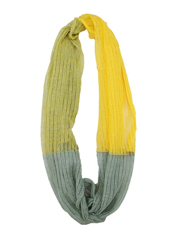 "Infinity Scarf ""Yellow & Aquamarine"""