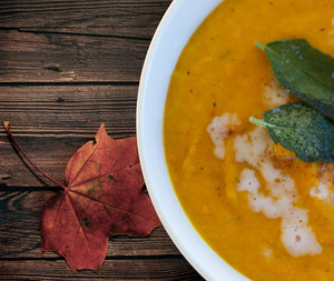 Yellow Thai Curry Butternut Squash Soup