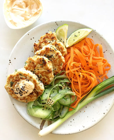 Thai Chicken Burgers - Plated