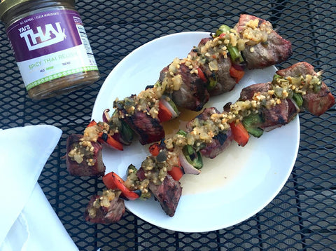 Yai's Thai Grilled Steak Skewers