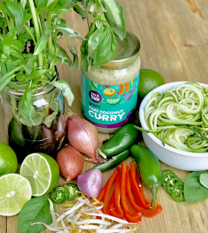 Yai's Thai Green Coconut Curry Soup Prep