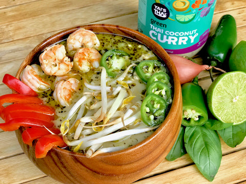 Yai's Thai Green Coconut Curry Shrimp Soup