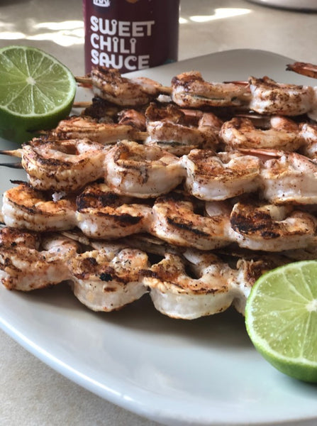 grilled chili lime shrimp skewers