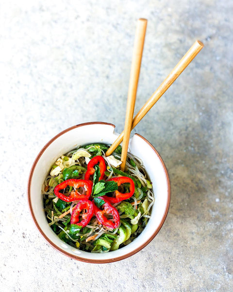 thai almond kelp noodle salad