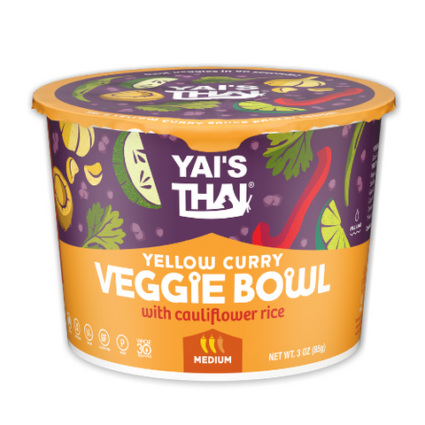 Yai's Thai - Yellow Curry Veggie Bowl