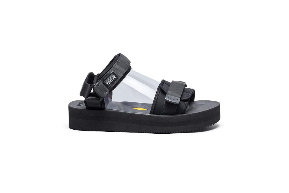 SUICOKE CEL-VPO Black Sandals