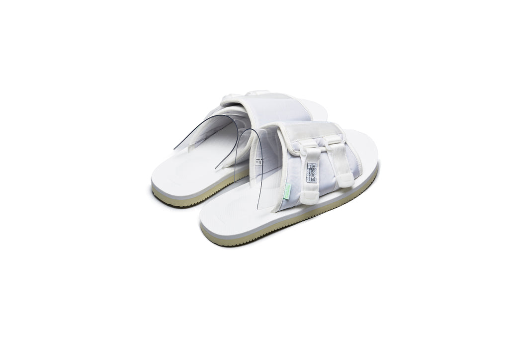 SUICOKE KAW-Cab White Sandals