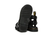 Load image into Gallery viewer, SUICOKE Dr. Martens Collaboration Edition BOAK Sandals in Black Smooth Leather Official Webstore Spring 2021