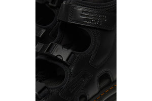 SUICOKE Dr. Martens Collaboration Edition BOAK Sandals in Black Smooth Leather Official Webstore Spring 2021