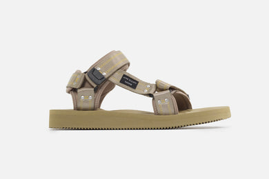 John Elliott SUICOKE Edition KIPA strap sandal in color sage from SS21.