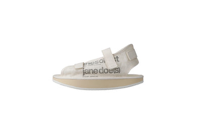 SUICOKE The Soloist Collaboration Edition Moon-Shaped Strap Sandal JANE in Off-White Official Webstore Spring 2021