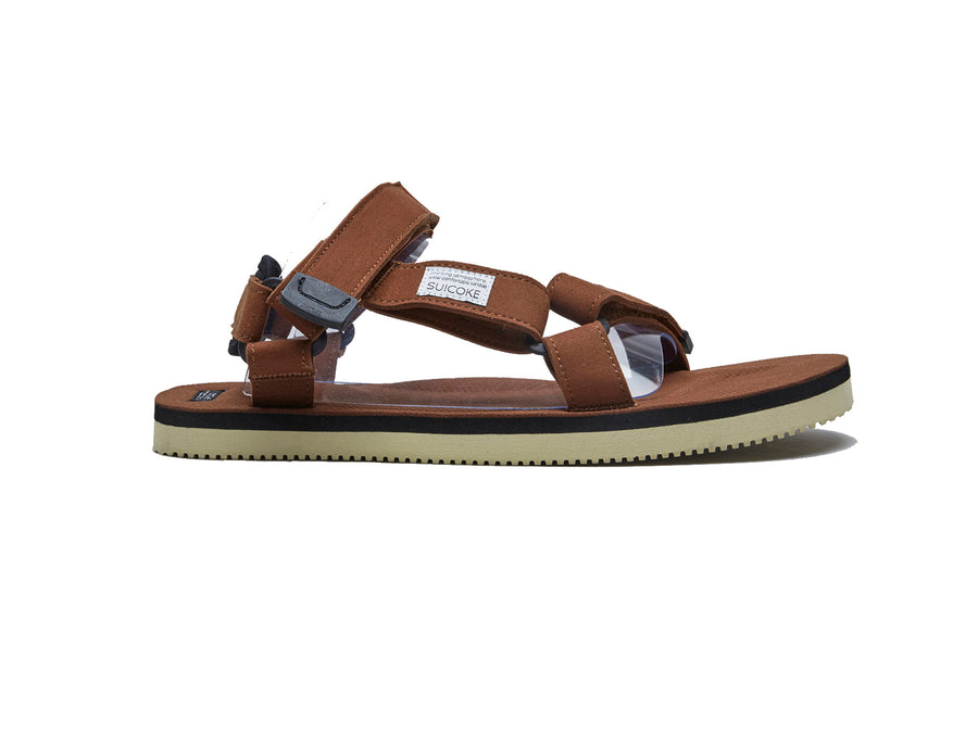brown depa-ecs suicoke sandal performance side
