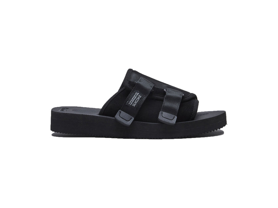 black kaw-vs suicoke slip-in lifestyle sandal front