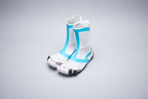 SUICOKE Vibram Five Fingers Collaboration Edition High Cut NIN-HI in White/Turquoise Official Webstore Spring 2020