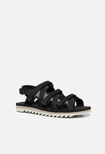 John elliott x suicoke zip sandals in black