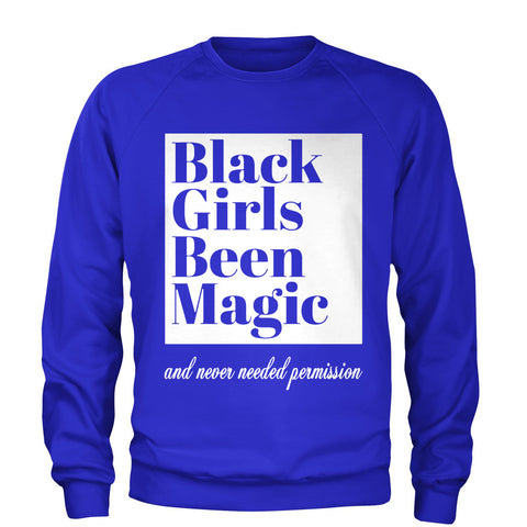Black Girls Been Magic Sweatshirt- Blue