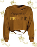 Dipped in Melanin Distressed Cropped Tee