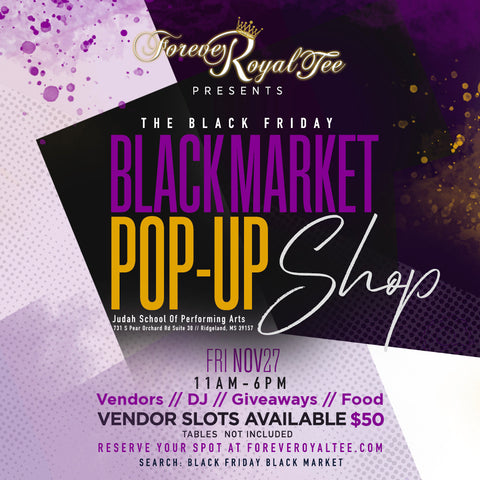The Black Friday Black Market Pop Up Shop
