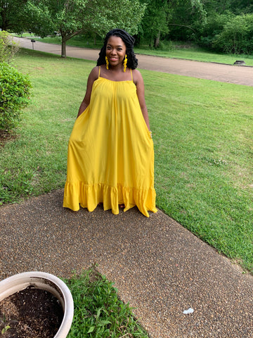 Summer Breeze Maxi- Yellow