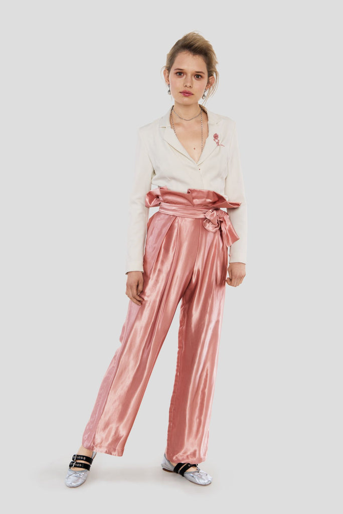 Sydney | Satin High Waist Trouser