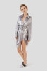 Bree | Silver Satin Robe Dress