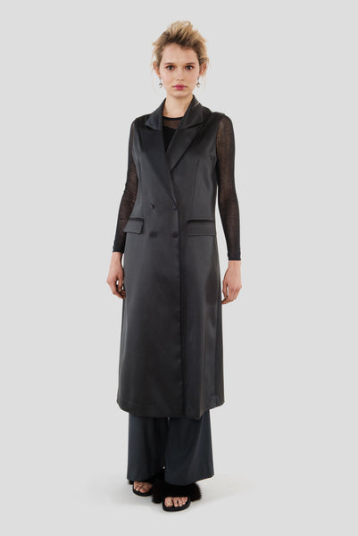 Trinity | Long Sleeveless Coat