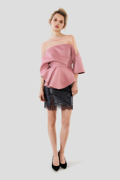Simone | Structured Cashmere Top