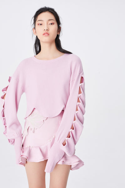 Pearl hollow out sweater
