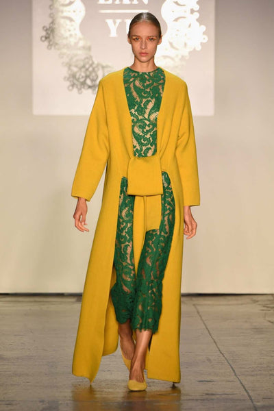 Yaknorbu Runway Green Lace Dress