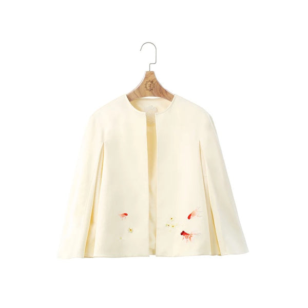 Handcraft Embroidery Cape | Goldfish