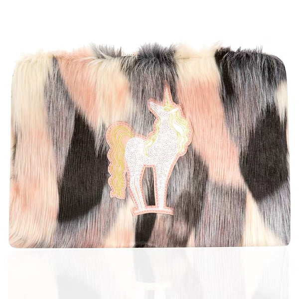 Faux Fur Laptop Bag