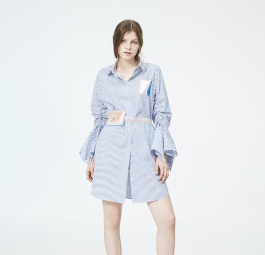 eed86ef2d4 Striped Shirt Dress – LANYU