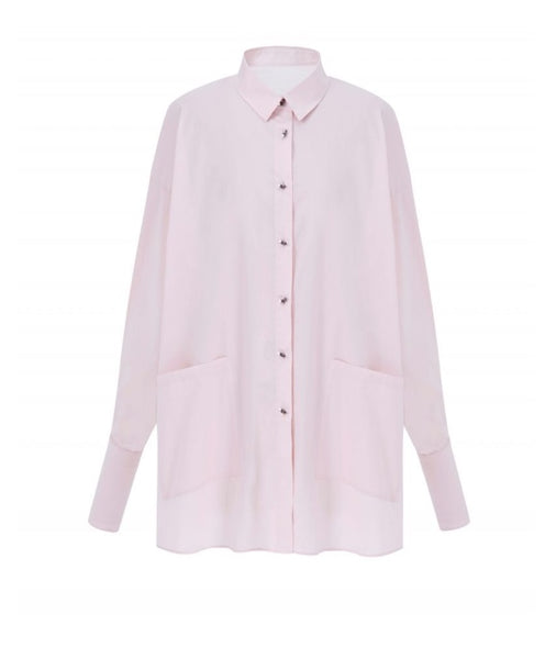 Pink Asymmetry Shirt