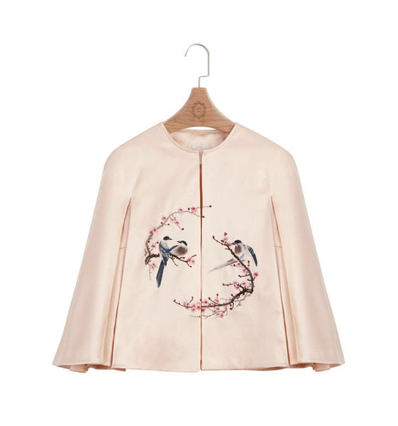 Handcraft Embroidery Cape | Magpie