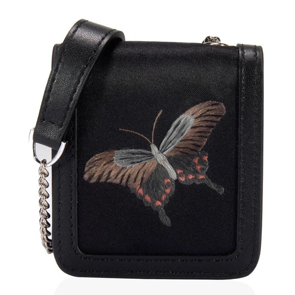 Su Embroidery Mini Crossbody Bag | Butterfly