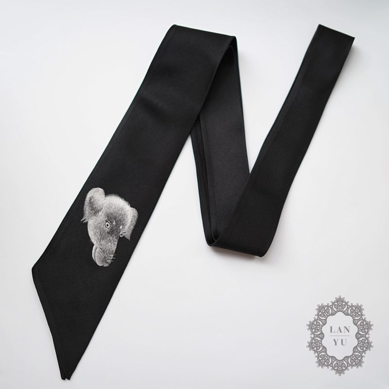 Embroidery Tie | Dog