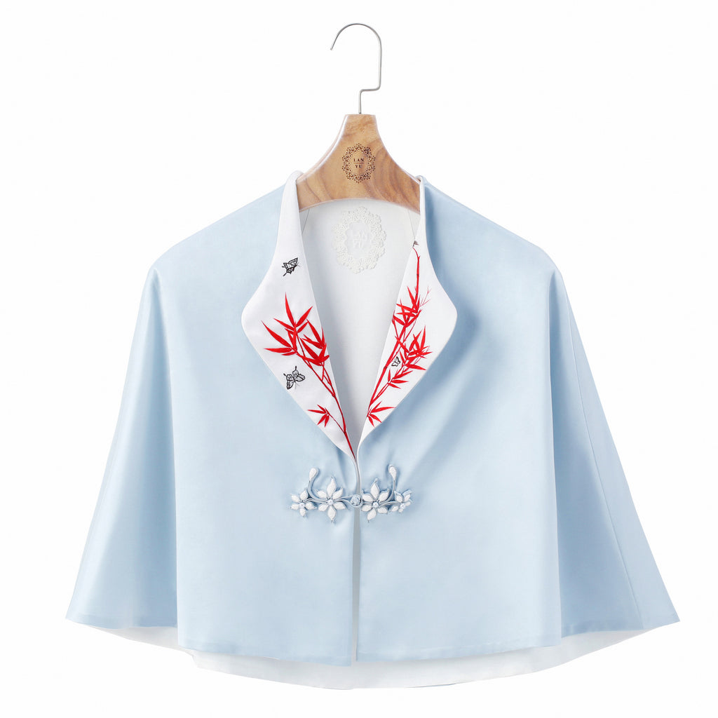 Silk Embroidery Cape