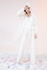 White Organza Transparent Trench Coat