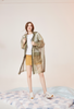 Olive Organza Transparent Trench Coat