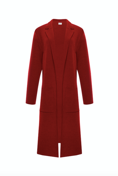 Wool Cashmere Knit Coat