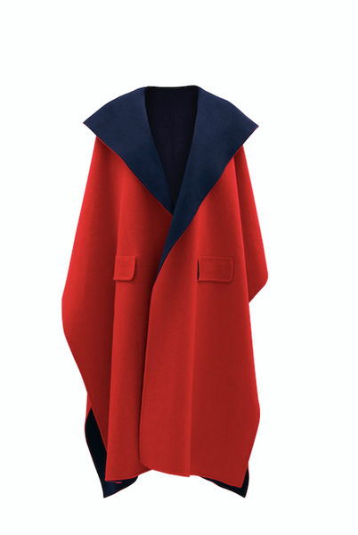Two Tone Cashmere Cape