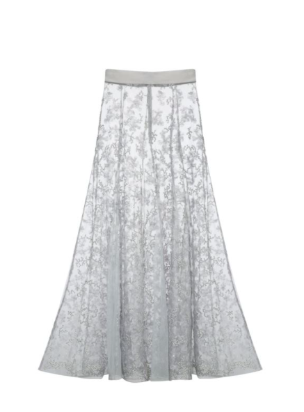 Embroidery Lace Skirt