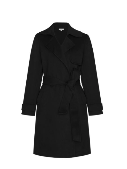 Black Long Cashmere Coat